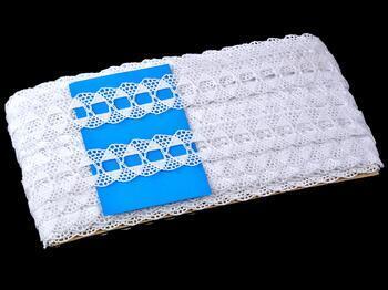Cotton bobbin lace 75170, width 30 mm, white - 2