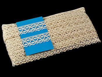 Cotton bobbin lace 75173, width 26 mm, ecru - 2