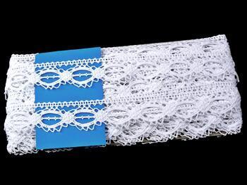 Paličkovaná krajka 75179 bavlněná, šířka32mm, bílá - 2