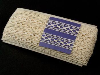 Cotton bobbin lace insert 75181, width25mm, ecru - 2