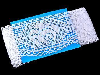 Cotton bobbin lace 75183, width 96 mm, white - 2