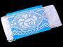 Cotton bobbin lace 75183, width 96 mm, white - 2/3