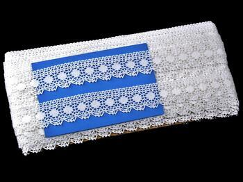 Paličkovaná krajka 75184 bavlněná, šířka25mm, bílá - 2