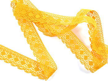 Bobbin lace No. 75184 dark yellow  | 30 m - 2