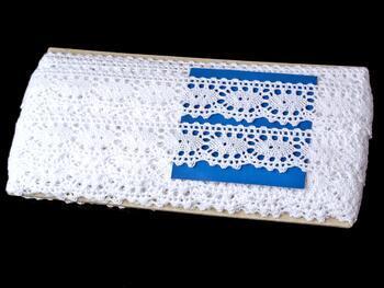 Cotton bobbin lace 75187, width 32 mm, white - 2