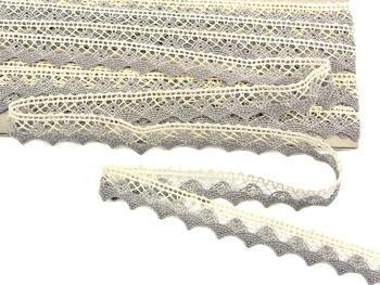 Bobbin lace No. 75191 ecru/dark linen | 30 m - 2
