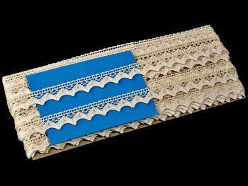 Cotton bobbin lace 75191, width 15 mm, ecru - 2