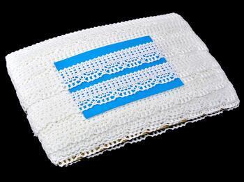Paličkovaná krajka 75192 bavlněná, šířka27mm, bílá - 2
