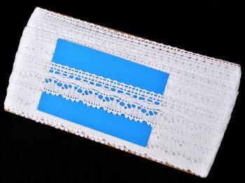 Cotton bobbin lace 75202, width 30 mm, white - 2