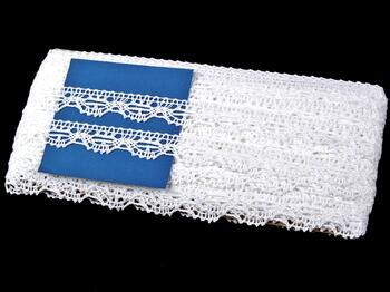 Paličkovaná krajka 75203 bavlněná, šířka 20 mm, bílá - 2