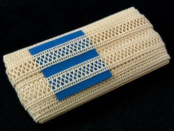 Cotton bobbin lace insert 75205, width27mm, ecru - 2