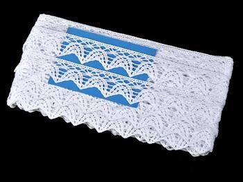 Paličkovaná krajka 75206 bavlněná, šířka 33 mm, bílá - 2