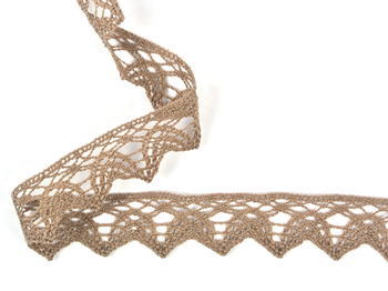 Bobbin lace No. 75206 dark beige | 30 m - 2
