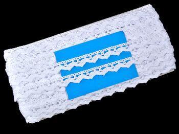 Paličkovaná krajka 75207 bavlněná, šířka 14 mm, bílá - 2