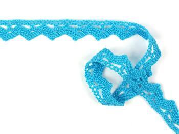 Cotton bobbin lace 75207, width 14 mm, turquoise - 2