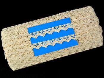 Cotton bobbin lace 75207, width 14 mm, ecru - 2
