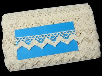 Cotton bobbin lace 75220, width 33 mm, ecru - 2