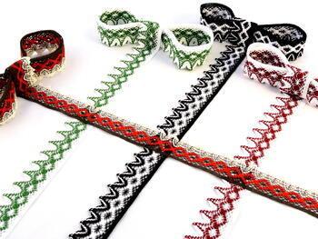 Bobbin lace No. 75222 black/white | 30 m - 2