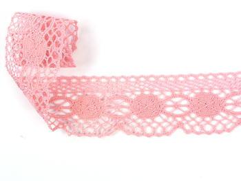 Paličkovaná krajka vzor 75223 růžová | 30 m - 2