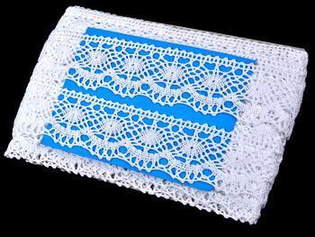 Cotton bobbin lace 75238, width51mm, white - 2