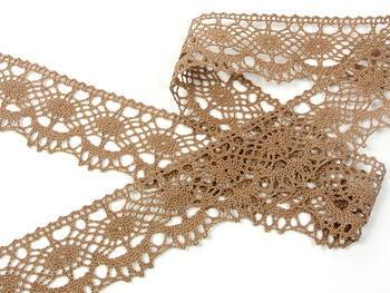 Bobbin lace No. 75238 dark beige | 30 m - 2