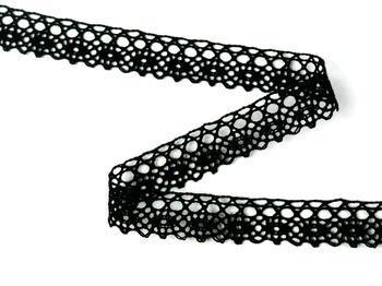 Bobbin lace No. 75239 black | 30 m - 2