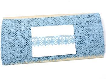 Paličkovaná krajka 75239 bavlněná, šířka19 mm, sv.modrá - 2