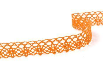 Cotton bobbin lace 75239, width 19 mm, rich orange - 2