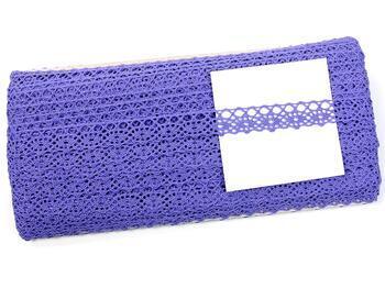 Cotton bobbin lace 75244, width 16 mm, purple II - 2