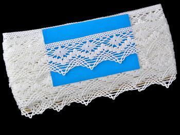 Paličkovaná krajka 75251 bavlněná, šířka50 mm, bílá - 2