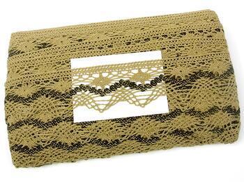 Paličkovaná krajka 75251 bavlněná, šířka50 mm, čokoládová/tm.hnědá - 2