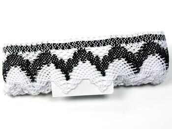 Bobbin lace No. 75256 white/black | 30 m - 2