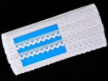 Paličkovaná krajka 75259 bavlněná, šířka17 mm, bílá - 2