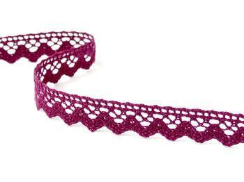 Cotton bobbin lace 75259, width 17 mm, violet - 2