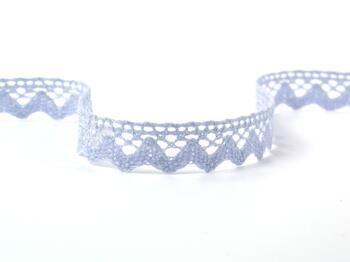 Cotton bobbin lace 75259, width 17 mm, light blue - 2