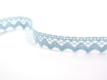 Cotton bobbin lace 75259, width 17 mm, pale blue - 2