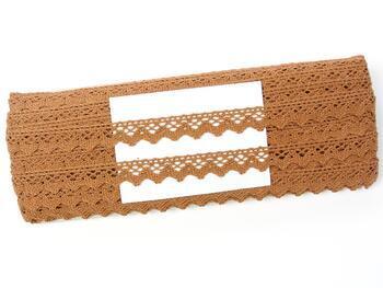 Cotton bobbin lace 75259, width 17 mm, terracotta - 2
