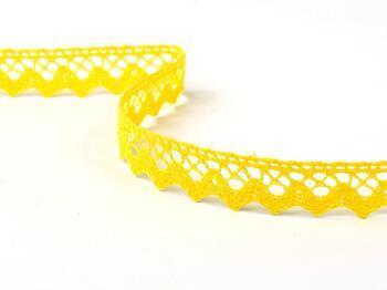 Cotton bobbin lace 75259, width 17 mm, yellow - 2