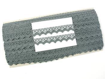Paličkovaná krajka 75259 bavlněná, šířka17 mm, šedá - 2