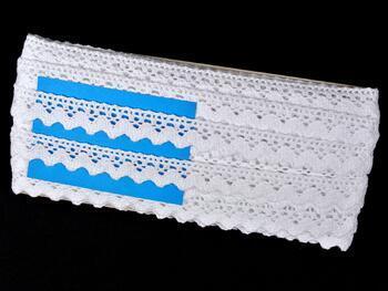 Paličkovaná krajka 75260 bavlněná, šířka22 mm, bílá - 2