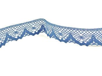Paličkovaná krajka vzor 75261 mořská modrá | 30 m - 2