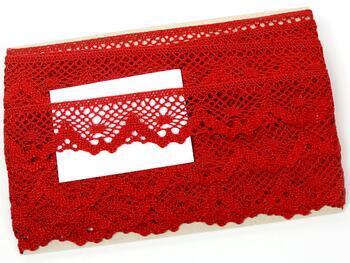 Cotton bobbin lace 75261, width 40 mm, light wine - 2