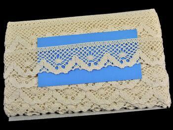 Cotton bobbin lace 75261, width 40 mm, ecru - 2