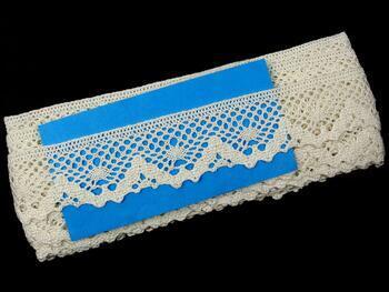 Paličkovaná krajka 75261 bavlněná, šířka40 mm, slonová kost - 2