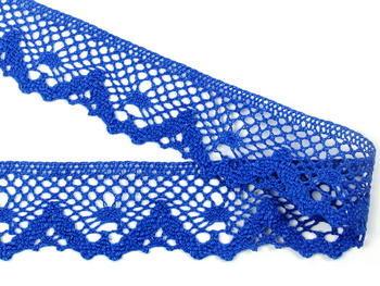 Paličkovaná krajka vzor 75261 královská modrá | 30 m - 2
