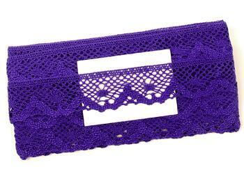 Cotton bobbin lace 75261, width 40 mm, purple - 2