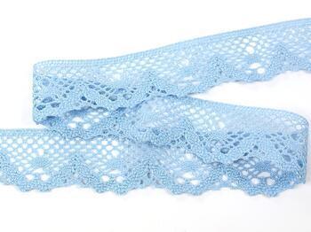 Paličkovaná krajka 75261 bavlněná, šířka40 mm, sv.modrá - 2