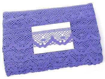 Cotton bobbin lace 75261, width 40 mm, purple II - 2