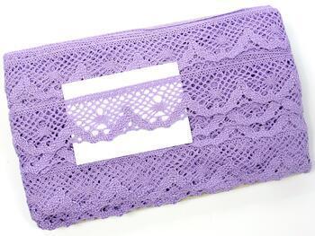 Cotton bobbin lace 75261, width 40 mm, purple III - 2