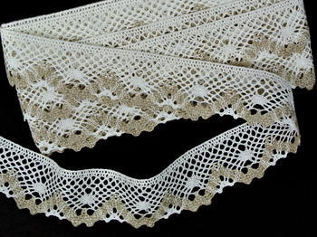 Bobbin lace No. 75261 bleached linen/natural | 30 m - 2